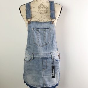Dollhouse Overall Skirt Denim Distressed Size 7